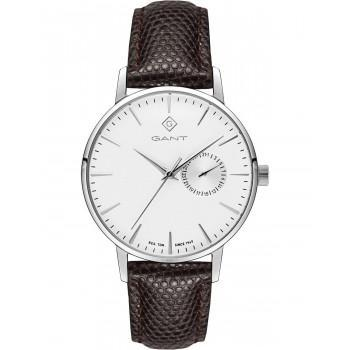 GANT Park Hill 38 - G106001,  Silver case with Brown Leather Strap