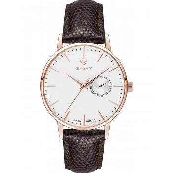 GANT Park Hill 38 - G106006,  Rose Gold case with Brown Leather Strap
