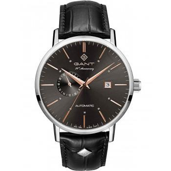 "GANT Park Hill ""70th Anniversary"" Automatic - G102002,  Silver case with Black Leather Strap"