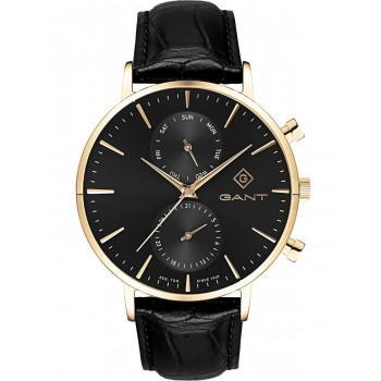 GANT Park Hill II - G121005,  Gold case with Black Leather Strap