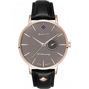 "GANT Park Hill III ""70th Anniversary"" - G105011,  Rose Gold case with Black Leather Strap"
