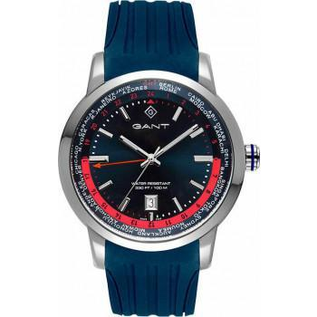 GANT Portsmouth - G152001,  Silver case with Blue Rubber Strap