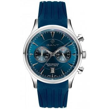 GANT Spencer - G135015,  Silver case with Blue Rubber Strap