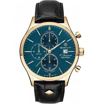 "GANT  Vermont II  ""70th Anniversary"" Chronograph - G104004  Gold case with Black Leather Strap"