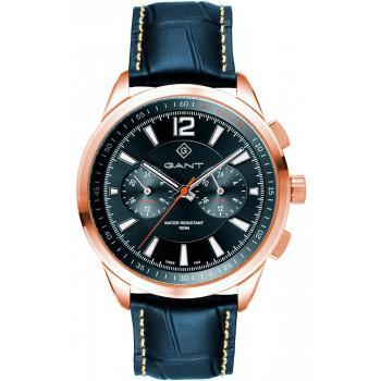 GANT Walworth - G144006,  Rose Gold case with Blue Leather Strap