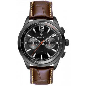 GANT Walworth - G144008,  Black case with Brown Leather Strap