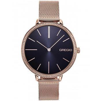 GREGIO Alisa Crystals - GR200031, Rose Gold case with Stainless Steel Bracelet