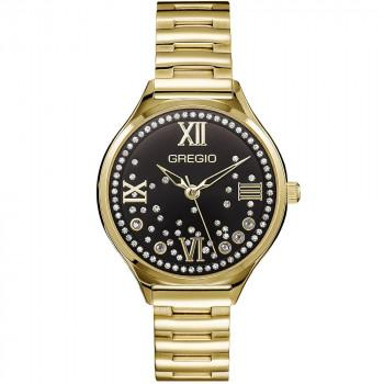 GREGIO Anette Crystals - GR230021, Gold case with Stainless Steel Bracelet