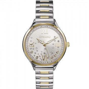 GREGIO Anette Crystals - GR230040, Silver case with Stainless Steel Bracelet
