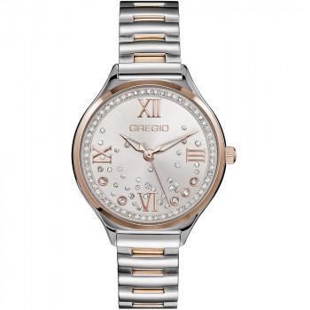 GREGIO Anette Crystals - GR230050, Silver case with Stainless Steel Bracelet