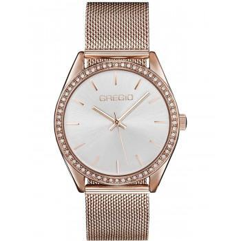 GREGIO Bianca Crystals - GR250030, Rose Gold case with Stainless Steel Bracelet