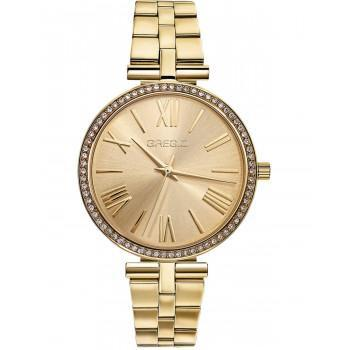 GREGIO Gisele Crystals - GR190020, Gold case with Stainless Steel Bracelet