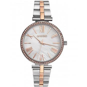 GREGIO Gisele Crystals - GR190040, Silver case with Stainless Steel Bracelet