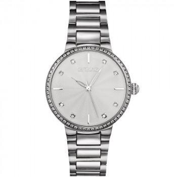GREGIO Linda Crystals - GR240010, Silver case with Stainless Steel Bracelet