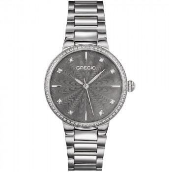 GREGIO Linda Crystals - GR240011, Silver case with Stainless Steel Bracelet