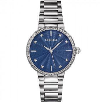 GREGIO Linda Crystals - GR240012, Silver case with Stainless Steel Bracelet