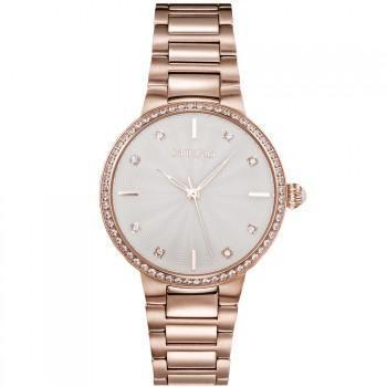 GREGIO Linda Crystals - GR240030, Rose Gold case with Stainless Steel Bracelet