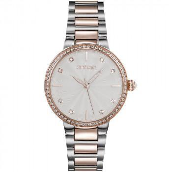 GREGIO Linda Crystals - GR240050, Silver case with Stainless Steel Bracelet