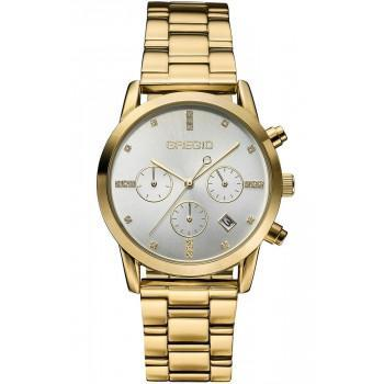 GREGIO Madiosn  - GR130020,  Gold case with Stainless Steel Bracelet