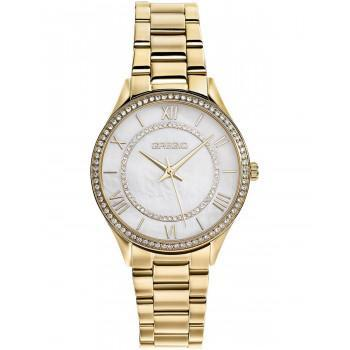 GREGIO Mattie Crystals - GR180020, Gold case with Stainless Steel Bracelet
