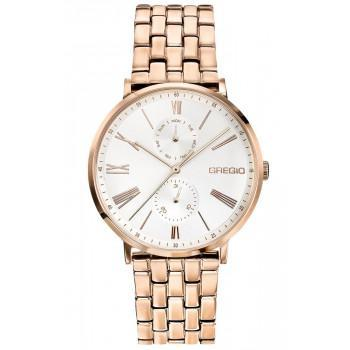 GREGIO Melrose - GR160030,  Rose Gold case with Stainless Steel Bracelet
