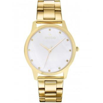 GREGIO Nora Crystals - GR123020  Gold case with Stainless Steel Bracelet