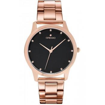 GREGIO Nora Crystals - GR123031  Rose Gold case with Stainless Steel Bracelet
