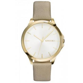 GREGIO Rosebery  - GR150070  Gold case with Beige Leather Strap