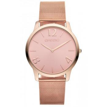 GREGIO Simply Rose Milanese - GR112034, Rose Gold case with Stainless Steel Bracelet