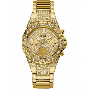 GUESS  Aphrodite Crystals - GW0037L2 , Gold case with Stainless Steel Bracelet