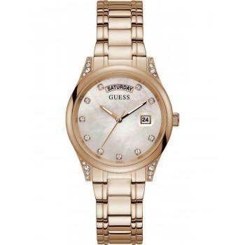 GUESS Aura Crystals - GW0047L2 , Rose Gold case with Stainless Steel Bracelet