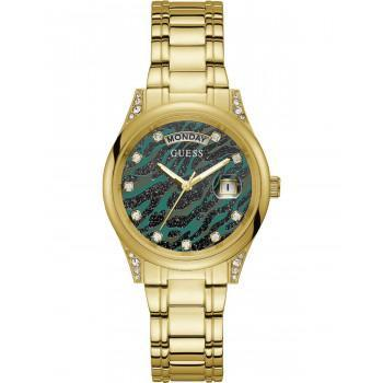 GUESS Aura Crystals - GW0047L3 , Gold case with Stainless Steel Bracelet