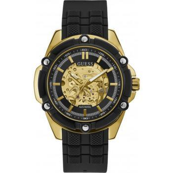 GUESS Automatic Mens - GW0061G2,  Gold case with Black Rubber Strap