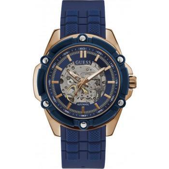 GUESS Automatic Mens - GW0061G3, Rose  Gold case with Blue Rubber Strap