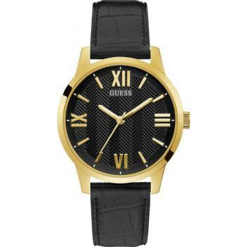 GUESS Campbell Men's - GW0250G2,  Gold case with Black Leather  Strap