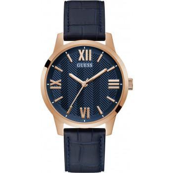 GUESS Campbell Men's - GW0250G3,  Gold case with Blue Leather Strap