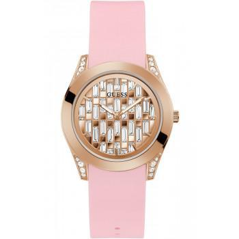 GUESS Clarity - GW0109L2,  Rose Gold case with Pink Rubber Strap