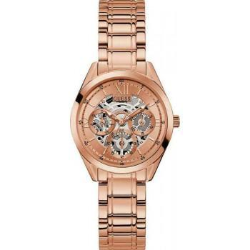 GUESS Clear Cut  - GW0253L3 , Rose Gold case with Stainless Steel Bracelet