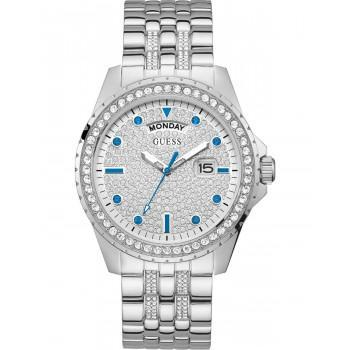 GUESS Comet Crystals - GW0218G1 , Silver  case with Stainless Steel Bracelet