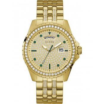 GUESS Comet Crystals - GW0218G2 , Gold case with Stainless Steel Bracelet