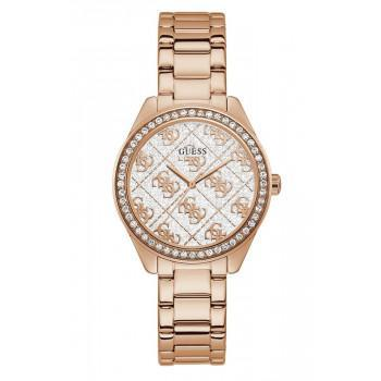 GUESS Crystals Ladies - GW0001L3 , Rose Gold case with Stainless Steel Bracelet