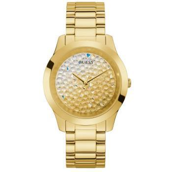 GUESS Crystals Ladies - GW0020L2 , Gold case with Stainless Steel Bracelet