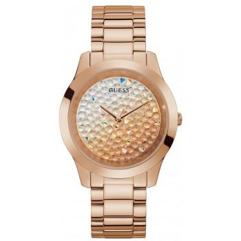 GUESS Crystals Ladies - GW0020L3 , Rose Gold case with Stainless Steel Bracelet