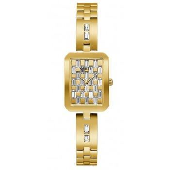GUESS Crystals Ladies - GW0102L2 , Gold case with Stainless Steel Bracelet