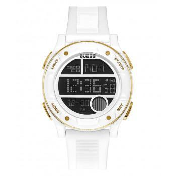 GUESS Digital Mens  - GW0225G1,  White case with White Rubber Strap