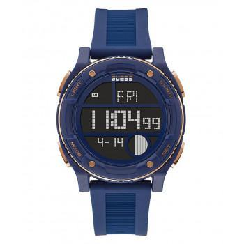 GUESS Digital Mens  - GW0225G2,  Blue case with Blue Rubber Strap