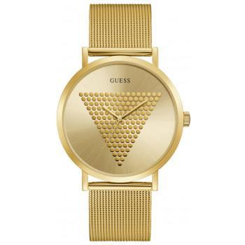 GUESS Unisex - GW0049G1, Gold case with Stainless Steel Bracelet