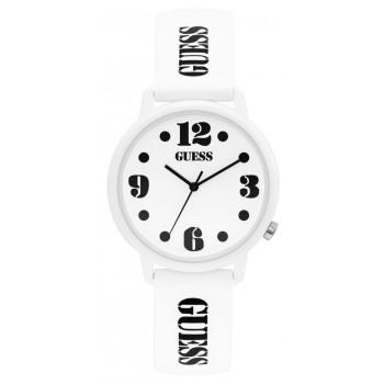 GUESS Ladies - V1042M1,  White case with White Rubber Strap