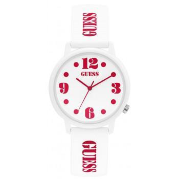 GUESS Ladies - V1042M2,  White case with White Rubber Strap