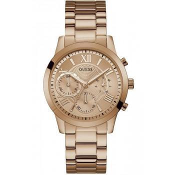 GUESS Ladies - W1070L3, Rose Gold case with Stainless Steel Bracelet